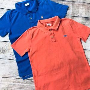 2 Crewcuts boys sz 8 SS polo shirts